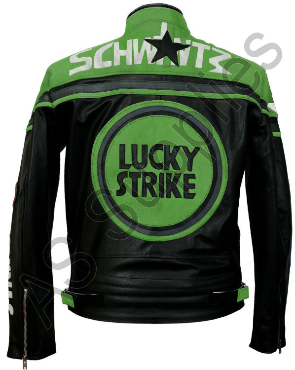 lucky strike motorcycle jacket leather biker jacket black green ebay