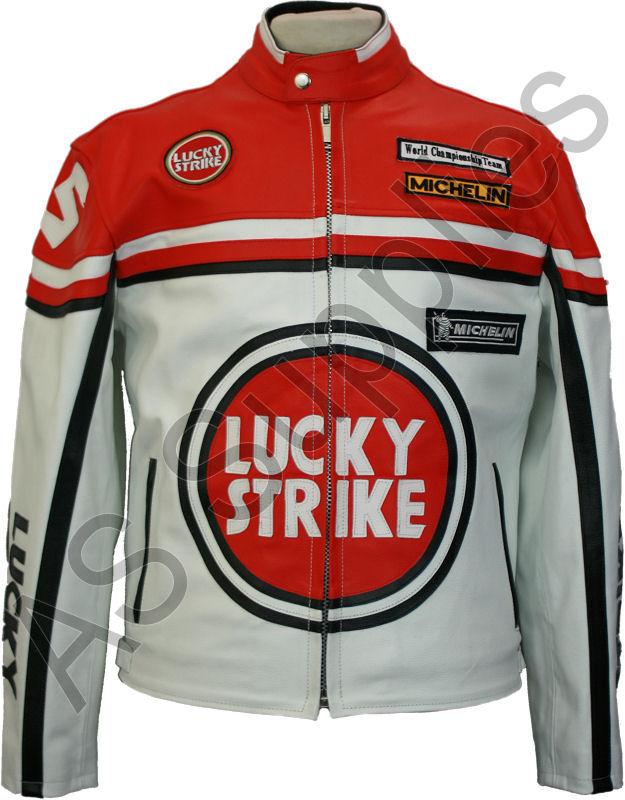 Blouson moto lucky strike cuir